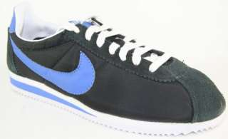 NIKE CLASSIC CORTEZ NYLON 09 Mens Black Blue Retro Shoes Size 9.5 New