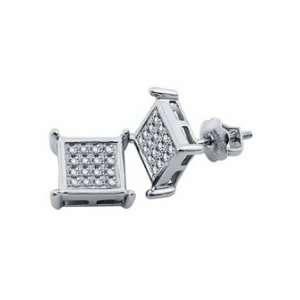 (.05 Ctw) 10k White Gold Diamond Earring Studs Everything