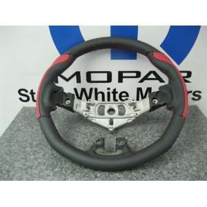 DODGE CHALLENGER CHARGER CUSTOM STEERING WHEEL RED GRIPS