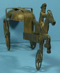 1906 ROUGH RIDER CAST IRON 2 BELL PULL TOY ALL ORIGINAL T43