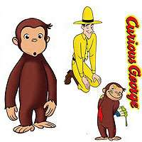 nEw LARGE 24 CURIOUS GEORGE Kids WALL STICKERS DECALS