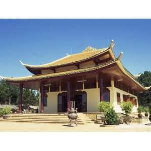 Exterior of the Thien Vien Truc Lam Buddhist Temple at Dalat