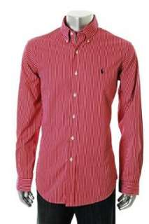 Ralph Lauren NEW Custom Fit Mens Button Down Shirt Red BHFO L