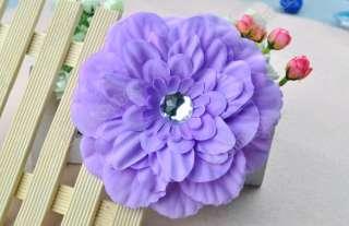 GIRL Daisy Girl Baby Crystal Head Flower Hair Clip Bow Cute New