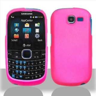 Pink Rubber Hard Case Cover For Samsung SGH A187 Phone