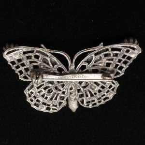 Butterfly Brooch Pin Vintage Rhinestones Czechoslovakia