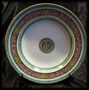 Grecian 10.25 Rimmed Soup Salad Plate Bowl Antique Vintage Pink