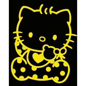 HELLO KITTY BABY  6 YELLOW   Vinyl Decal Sticker   NOTEBOOK, LAPTOP