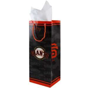 San Francisco Giants Black Bottle Gift Bag Sports