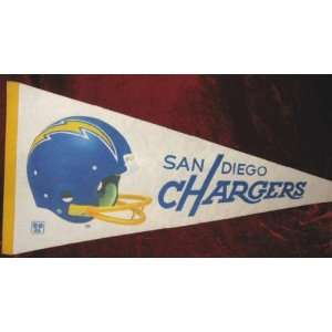 Vintage 70s San Diego Chargers NFL Football Banner
