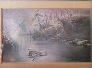 Ben Hampton signed Mill Run print