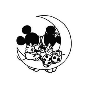 Mickey Mouse Love Moon   Cartoon Decal Vinyl Car Wall