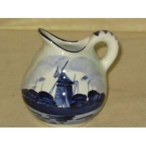 3x3 Inch Delft Blue Holland Porcelain Pitcher Home & Kitchen