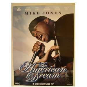Mike Jones The American Dream Poster Rapping Flag