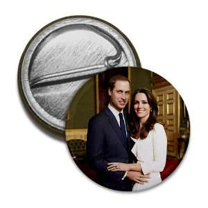 William Kate Middleton Royal Engagement 1 Mini Pinback Button Badge