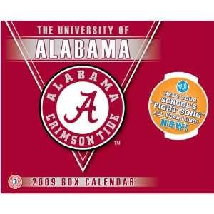 Alabama Crimson Tide NCAA Box Calendar with Sound Sports