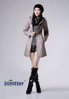 New Korean Womens Fashion Hoodie Long Trench Jacket Coat