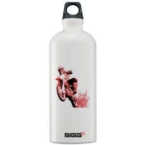 Red dirt bike wheeling in mud Sigg Water Bottle 1. Sports