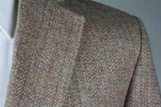 Vintage Brown Tweed Wool Stripe Jacket/Blazer 46 L