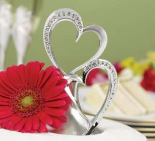 Sparkling Love Cake Topper Double Heart Wedding Free