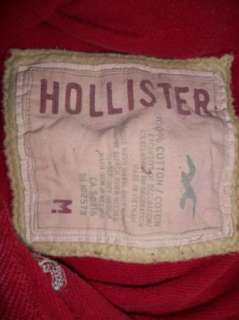 Mens Hollister Red Long Sleeve Shirt/Sweatshirt Size M
