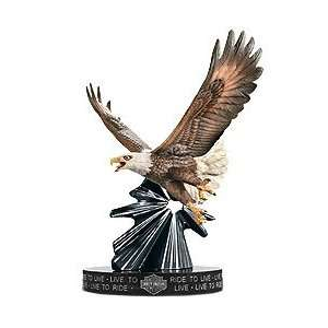 Harley Davidson Live to Ride Porcelain Eagle Sculpture