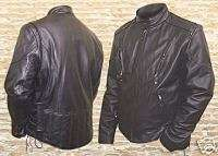 RENEGADE BLACK VENTED MOTORCYCLE JACKET Side lace 48