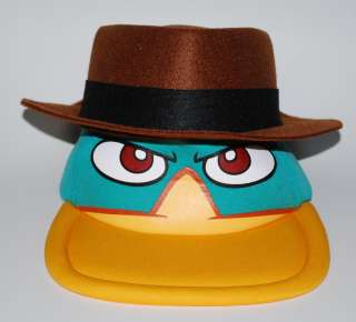 Disney Parks Phineas & Ferb Perry the Platypus Agent P Spy Foam Hat