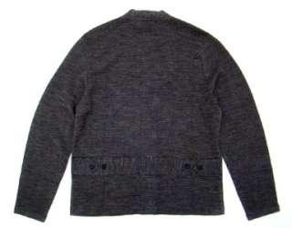 RRL RALPH LAUREN gray woven wool cardigan sweater L NWT
