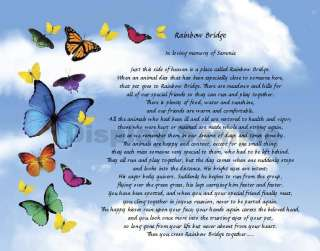 Rainbow Bridge Poem Loss Of Pet Personalized Memorial