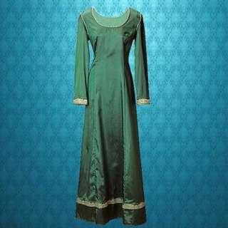 Emerald Green Medieval Renaissance Faire Costume Dress