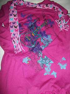 NEW~DISNEY HANNAH MONTANA DRESS STYLE EXTRA LONG SHIRT SIZE 7/8