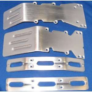 T Maxx E Maxx Brushed Aluminum skid plates bumper set