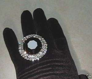 Adjustable Rhinestone RING Showgirl Drag Queen RD 2 JT