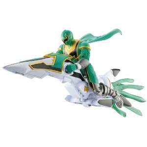 Power Rangers: Green Power Ranger with Mystic Racer: Toys