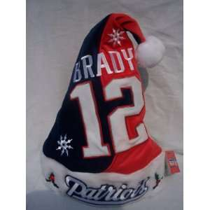New England Patriots Tom Brady player #12 plush holly NFL
