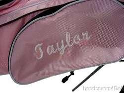 NEW Girls LEFT HAND 3 5 Junior PINK Golf Club Set Bag