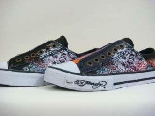 Ed Hardy women tiger black rhinestones sneakers shoes