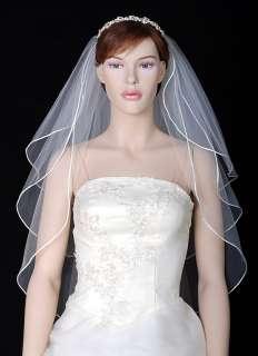 3Tier Ivory / White Wedding Bridal Veil Tiara Gown 48s
