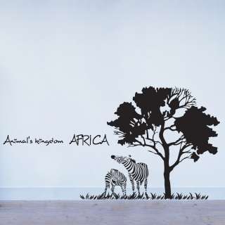 AFRICA Adhesive Removable Wall Decor Accents Graphic Stickers Decals