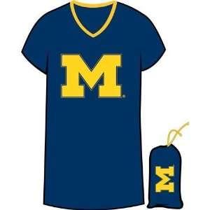 University of Michigan Wolverines Womens Night Shirt Tee