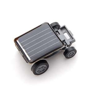 New Smallest Mini Solar Powered Robot Racing Car Toy Gadget