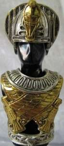 RARE FRANKLIN MINT EGYPTIAN WARRIOR ARMOR STATUE FIGURINE