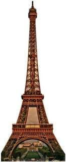 Big Eiffel Tower LiFeSiZe Cardboard Standup Cutout Party Event Standee