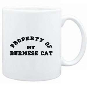 Mug White  PROPERTY OF MY Burmese  Cats Sports