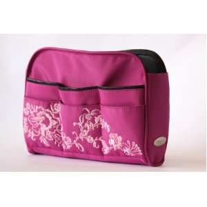 Pink Floral Handbag / Purse Organizer Insert Limited Edition: Beauty