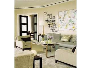 PRAYER HEAVEN FAITH Wall Art Vinyl Decal Home Decor