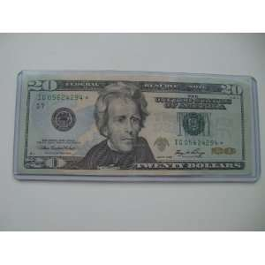 Twenty Dollars Star Note Series 2006 $20 Bill IG 05624294