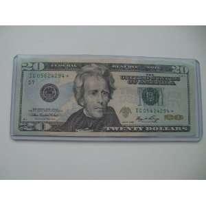 Twenty Dollars Star Note Series 2006 $20 Bill IG 05624294
