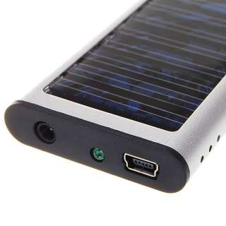 Solar Power Battery Charger w/ Cell phone Adapter for iphone  MP4